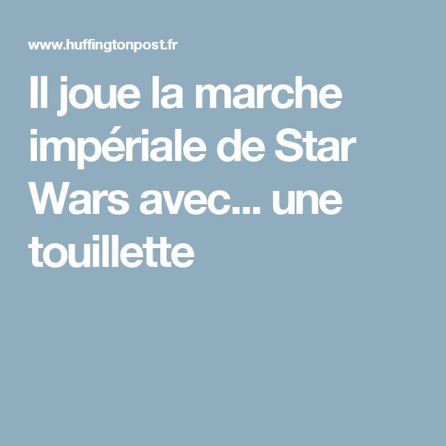 Il joue la marche impériale de Star Wars avec... une touillette