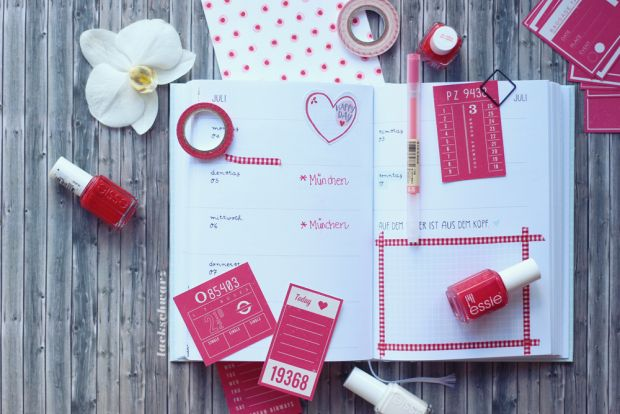 Stationery July Edition | Odernichtoderdoch Jahreskalender | Washi Tape Tchibo | Scrapbook Werkstatt American Crafts Shimelle Swanson | stationery | Schreibwaren | Lackschwarz