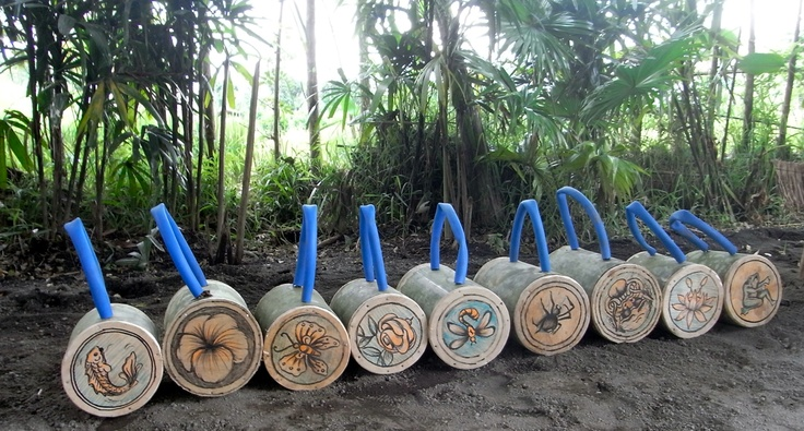 Sharing Bali version of Kettlebells complete with Bali art by Ngurah