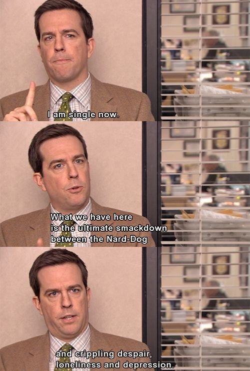 "Your status is single. | Community Post: 20 Signs You're Andy Bernard From ""The Office"" When It Comes To Dating"