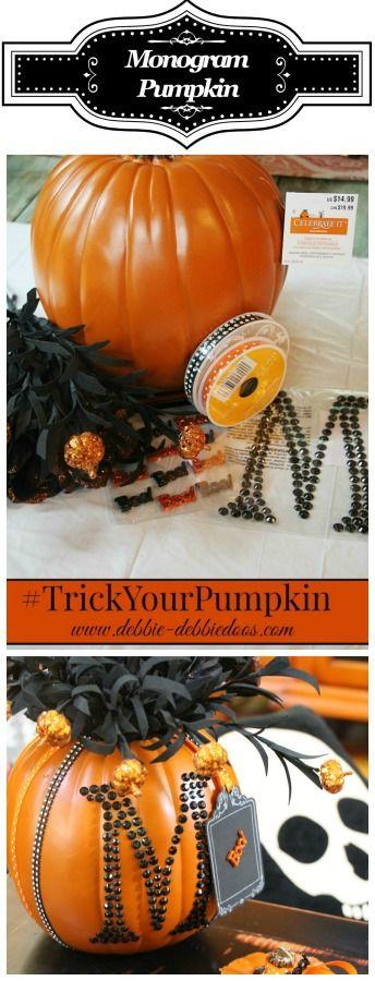Halloween Monogrammed pumpkin