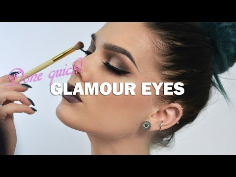 Glamorous Make Up - Linda Hallberg Make Up Tutorials Done Quick - YouTube