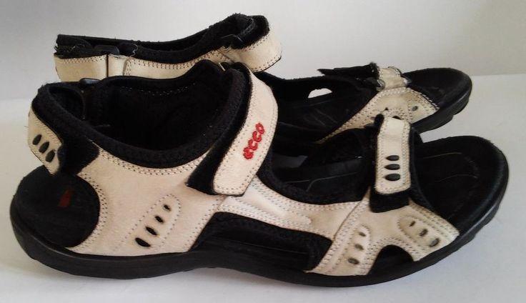 ECCO Women EU41 (SZ 9,5) white / gray / black sports sandals #Ecco #SportSandals