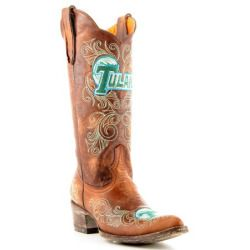 sale Gameday Womens 13' Brass Leather Tulane Cowboy Boots (Size 5.5) TUL-L011-1 New