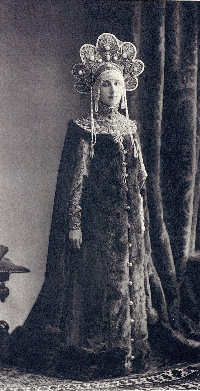 Princess Maria Nikolaevna Lopukhina (aka Lopuchin), née Countess Kleinmichel, in 17th-century boyarina's attire at the Winter Palace Costume Ball of 1903.....024 by klimbims on deviantART