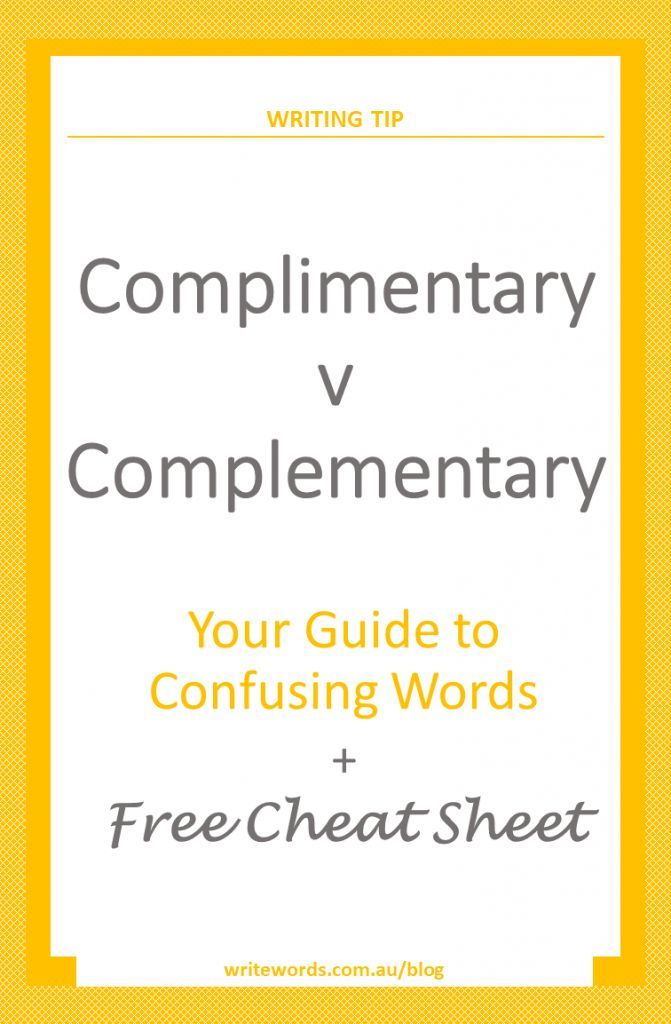 Word choice and avoiding a conundrum – learn the difference between the commonly confused words 'complementary' and 'complimentary' #writingtip #confusingwords