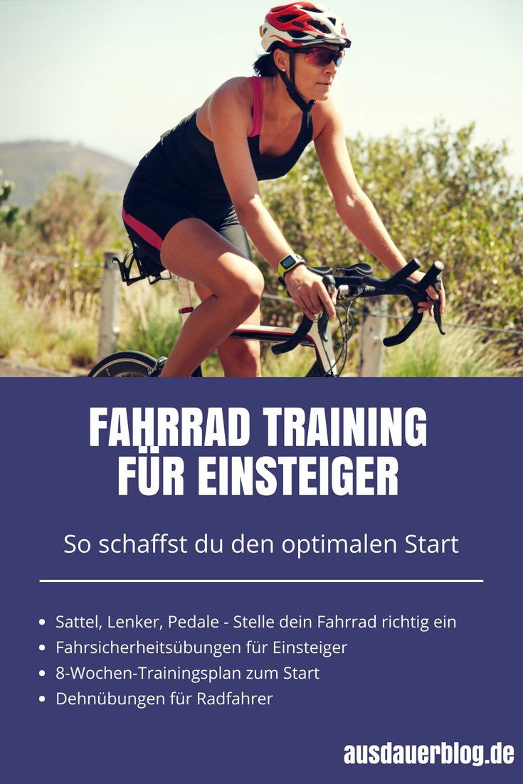 Bicycle training for beginners – this is how you get the best start (with training plan) – ausdauerblog – endlich mehr Sport