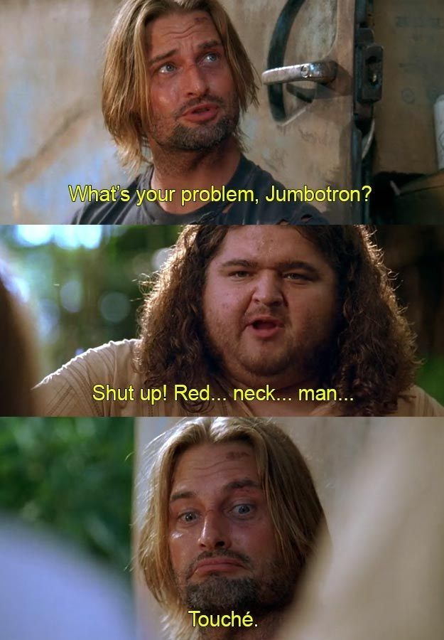 "And finally, when he was perfectly willing to accept a little retribution: | 17 Times Sawyer's Nicknames Were The Best Thing About ""Lost"""