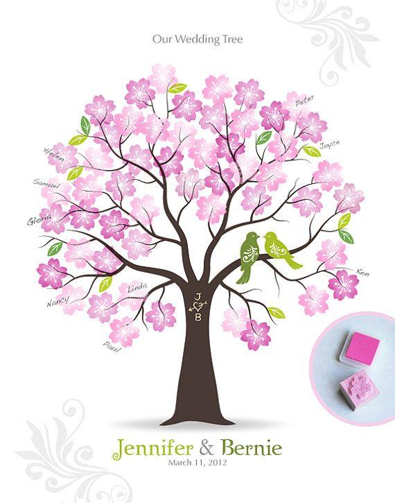 Timbre Me mariage arbre commentaires Signature par TJLovePrints, $36.00