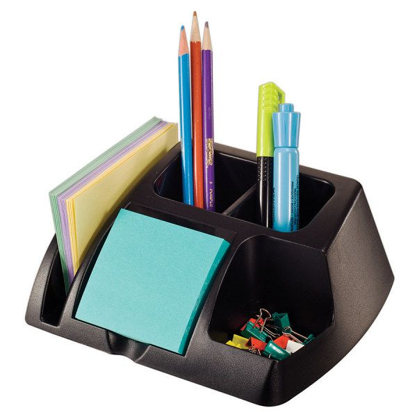 Office Depot Brand 30 Recycled Desk Organizer In 2020 Desk Organization Desk Organization Office Black Desk