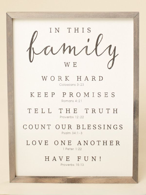 In This Family Wall Art Signs Wall Art Gifts Home Decor Family Wall Art Family Wall Family Wall Decor
