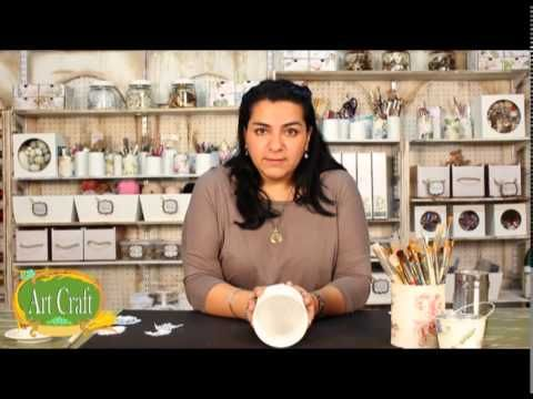 Art Craft - Tutorial 21 - Laura Patterson - Decoupage sobre lata o zing