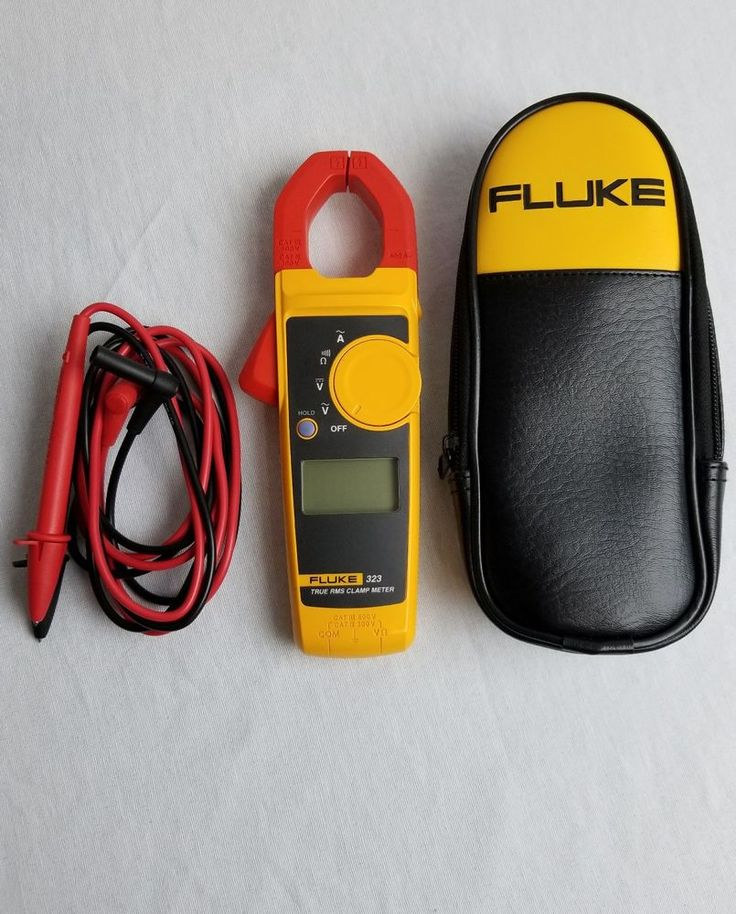 Fluke 323 True RMS Clamp Meter With Carrying Case  | Business & Industrial, Electrical & Test Equipment, Test, Measurement & Inspection | eBay!