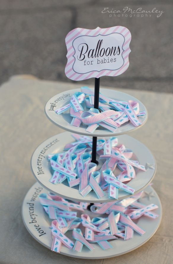 Miscarriage/Infant Loss Awareness ribbons made for Balloon release event #Balloons for Babies #Infant Loss Awareness Month #Angel Babies