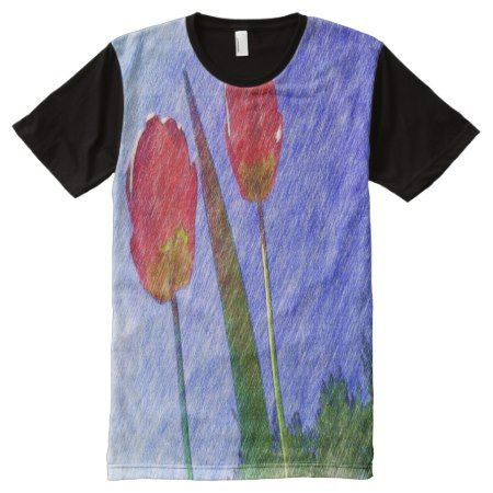 tulip flower drawing All-Over-Print shirt - tap to personalize and get yours