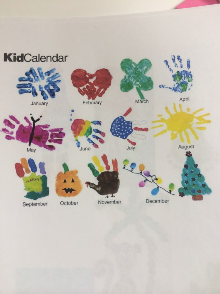 Month by month toddler handprint ideas