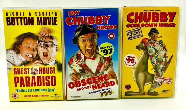 Vhs Video Tape Bundle Roy Chubby Brown X2 & Bottom Guest House Paradiso Vgc