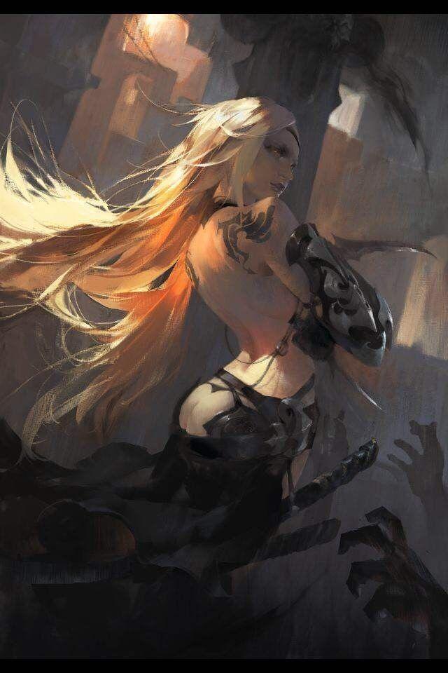 Assassin, Amama L on ArtStation at https://www.artstation.com/artwork/q0a5e