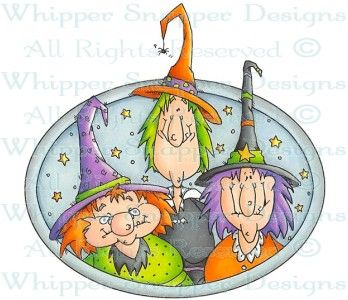 BFF Witches - Halloween Images - Halloween - Rubber Stamps - Shop