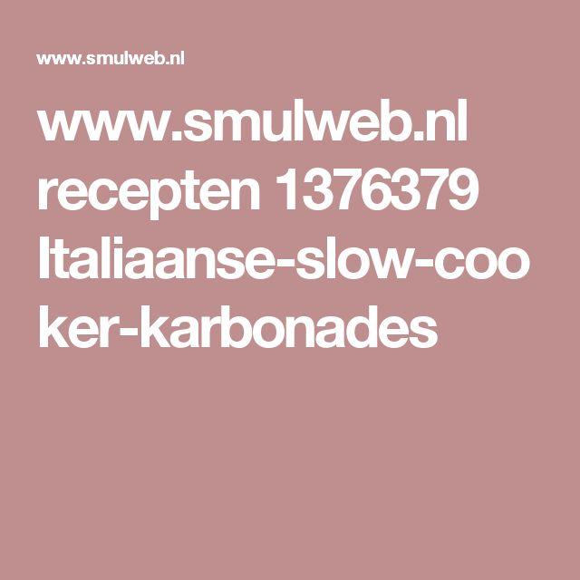 www.smulweb.nl recepten 1376379 Italiaanse-slow-cooker-karbonades