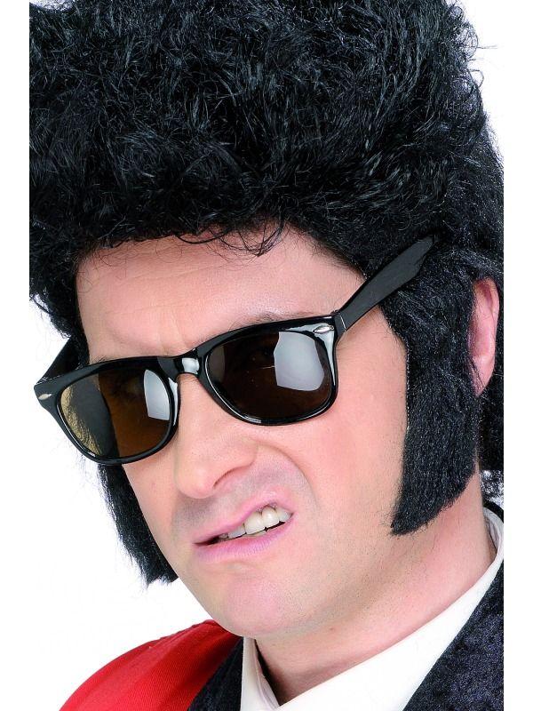 Accesorii perciuni, se aplica usor cu atoadeziv. Potriviti pentru o deghizare fidela Elvis sau un personaj misterios de Halloween.