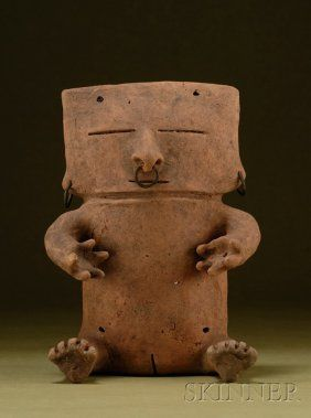 "34: Pre-Columbian Pottery Figure, Ecuador, Quimbaya ""Re : Lot 34"