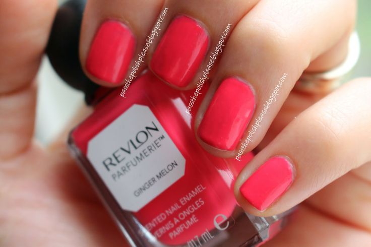 Revlon - Ginger Melon - Parfumerie Scented Nail Polish Collectionby www.passthepolishplease.blogspot.com
