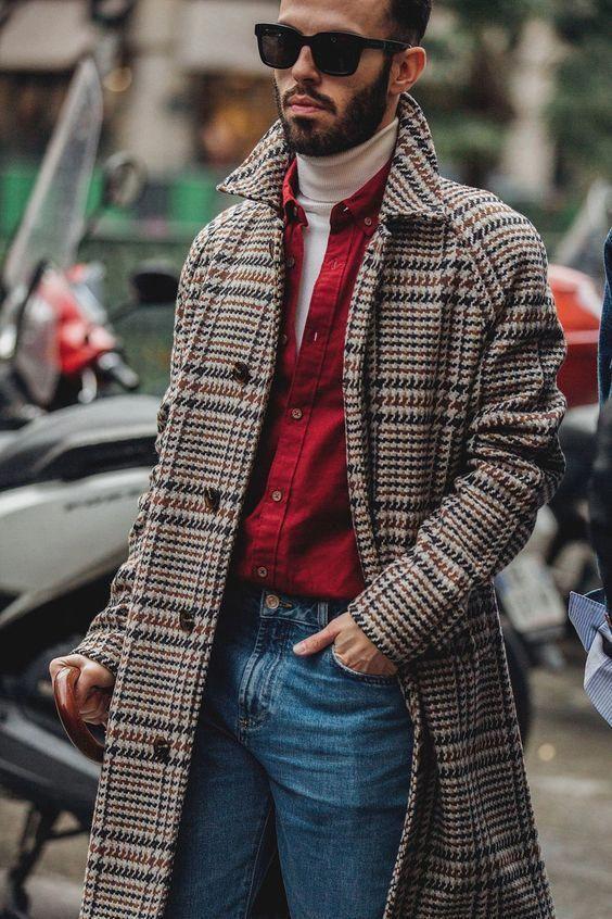 Winterjas Trend 2019.Jas Slim Fit Cognac Mens Fashion Trendy Fashion Mens
