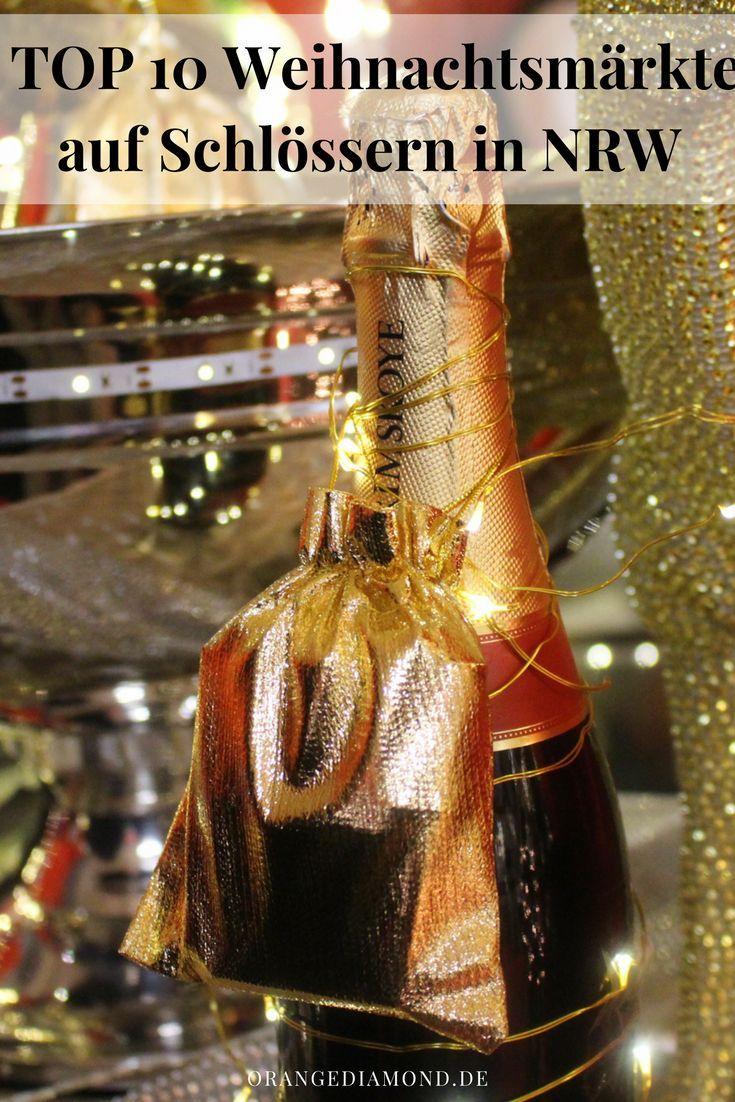 Die schönsten Weihnachtsmärkte auf Schlössern in NRW mit Öffnungszeiten und Eintritts-Preisen. Genießt den Winter und die Vorweihnachtszeit im wunderbaren Schloss-Ambiente und lasst euch verzaubern. Design-Weihnachtsmärkte in NRW #weihnachtsmarkt #schloss #drachenfels #nrw