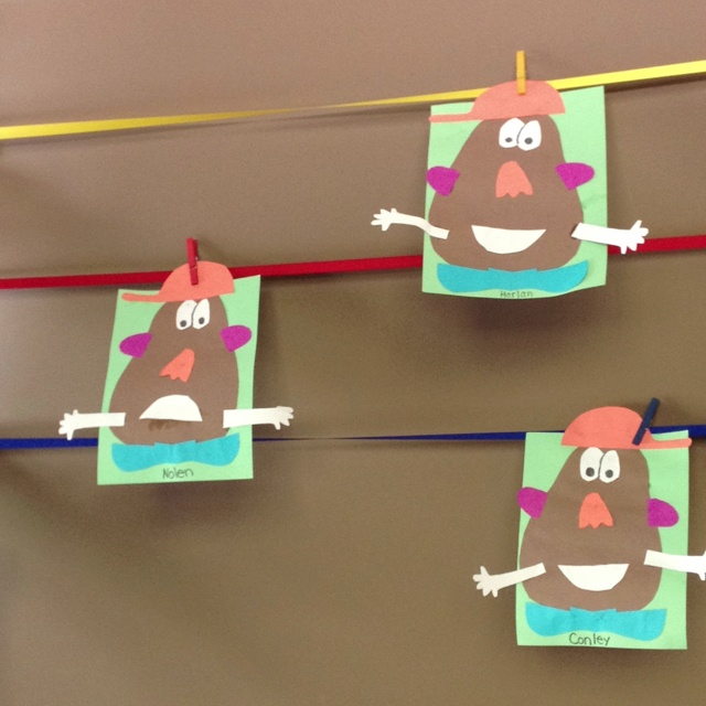 All about me unit and Mm week. We created a Mr. Potato Head and learned about our five senses. Dr. Jean has a great puppet song about 5 senses can find on YouTube.