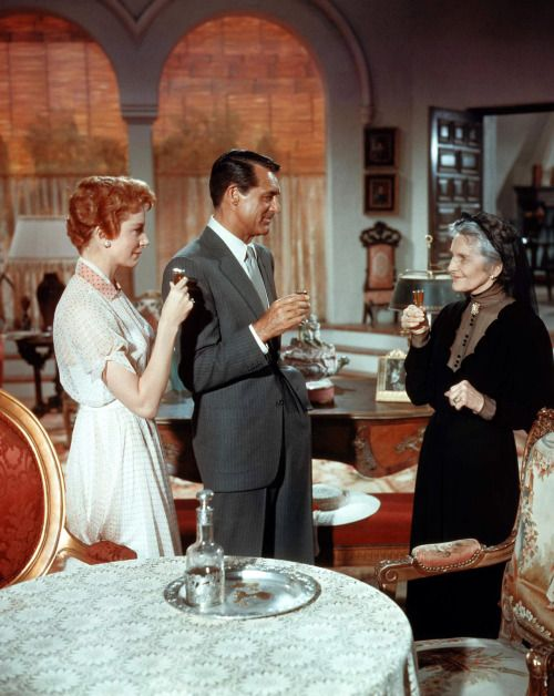 Cary Grant, with Deborah Kerr and Cathleen Nesbitt. 1957 'An Affair to Remember.'