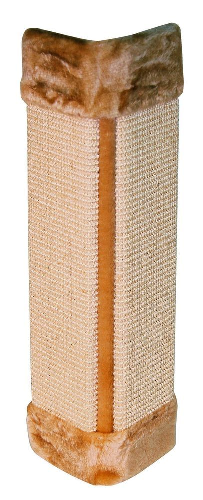 Pet Kitten Corner Cat Scratching Board Wall Mounted Sisal Plush Cover Brown Mat