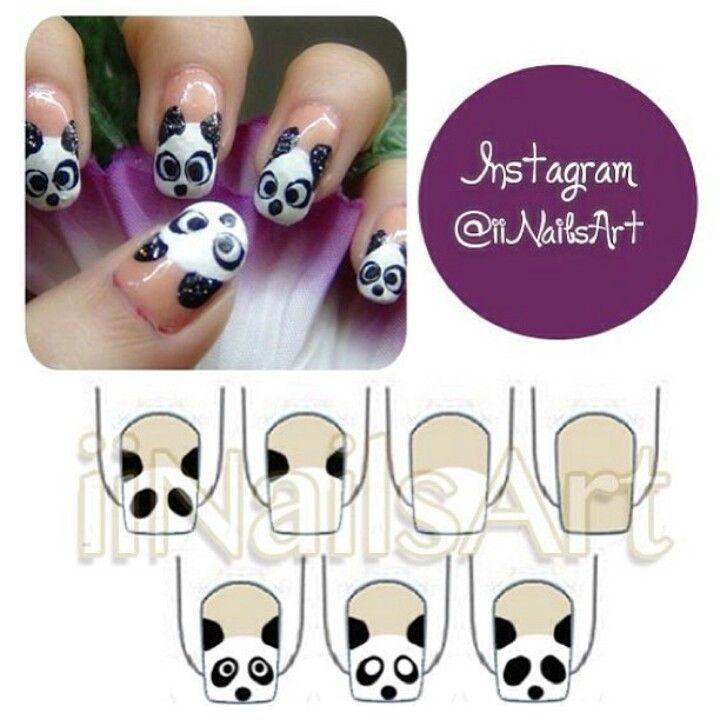 Panda bear nails