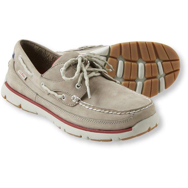 L.L.Bean Men's Portlander Free Flex Boat Shoes ($70) ❤ liked on Polyvore featuring men's fashion, men's shoes, men's loafers, mens sperry topsiders, mens shoes, mens topsiders, mens deck shoes and mens waterproof shoes