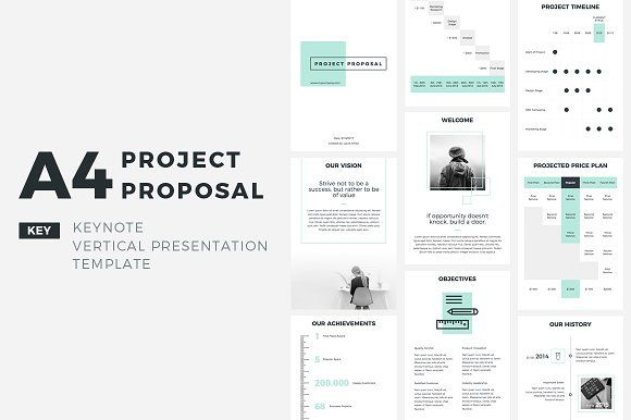 A4 Project Proposal Keynote by CreativeSlides on @creativemarket