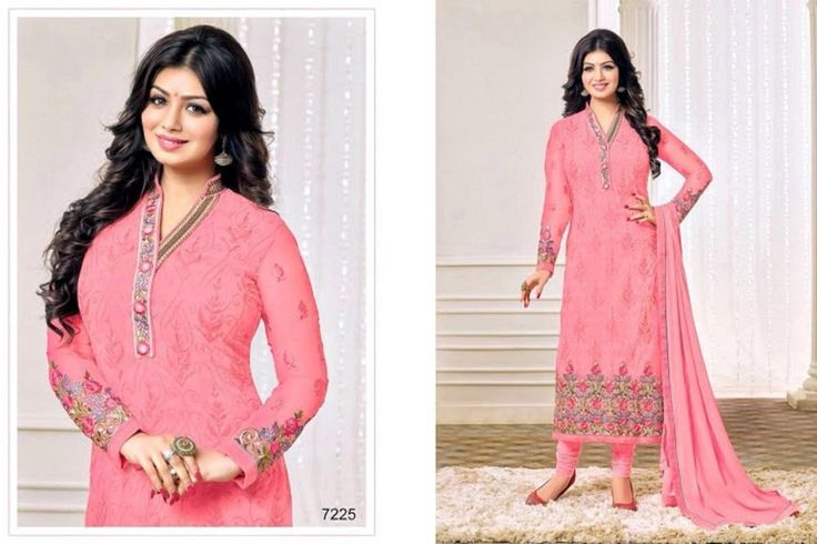 Stitched exactly as shown, detailed silk & zardozi embroidery, trending sleeves & hemline.