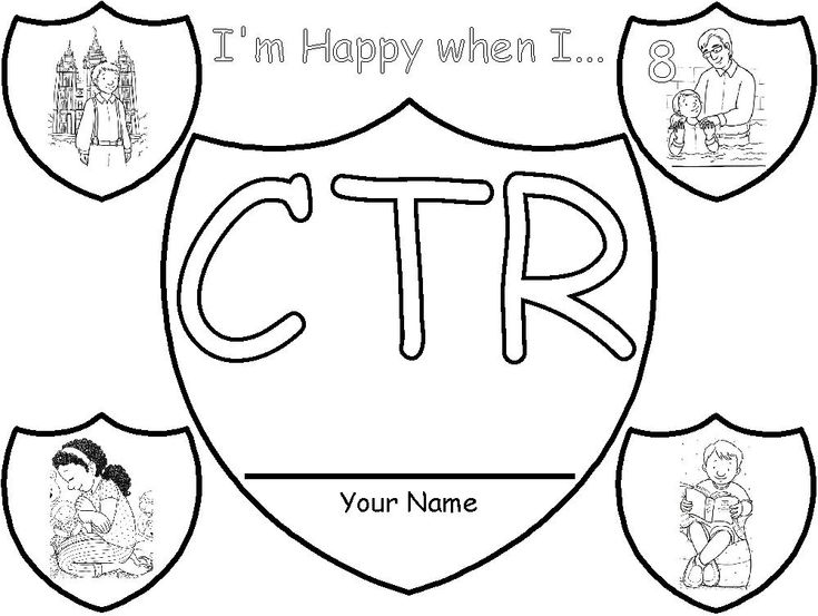 17 best images about primary on pinterest lds book of for Ctr shield coloring page