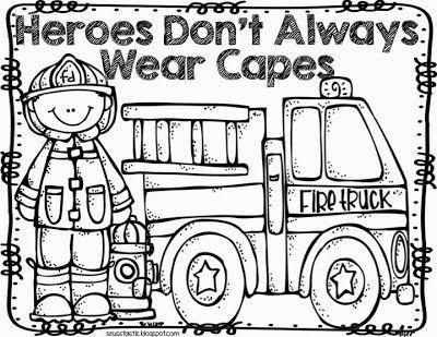 Verschillende prenten rond de brandweer
