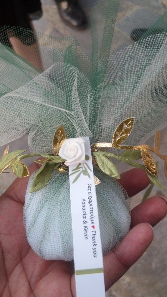 Boubouniera - handmade Greek wedding favors made by my sister