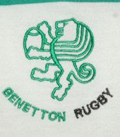 Italy. Not everyone knows that Benetton sponsors a rugby team in its home town. The Benetton Treviso rugby jerseys are very appreciated, but difficult to obtain outside Italia.