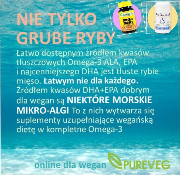Gdy nie wybierasz się na ryby....wpadnij na www.pureveg.pl #weganskamega3 #weganskiesuplementy #veganicity #helhetshalsa #pureveg