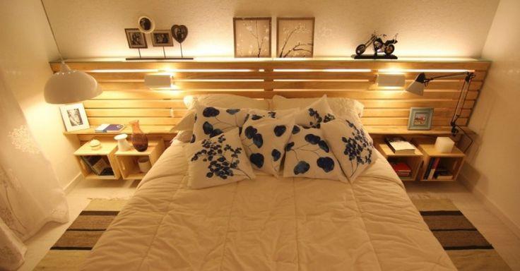 Pallet bed head board