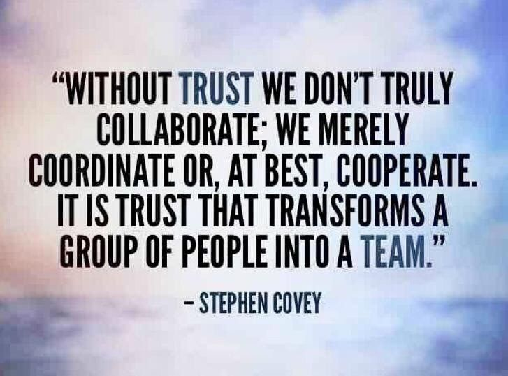 Trust And Teamwork Covey Quotes Stephen Covey Quotes Teamwork Quotes Motivational
