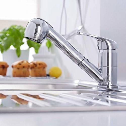 Hudson Reed Küchenarmatur mit ausziehbarer Brause, Küchenwasserhahn