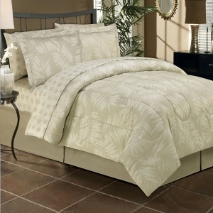 The Tropical Linen Bed In Bag Includes A Comforter Pillow Shams B