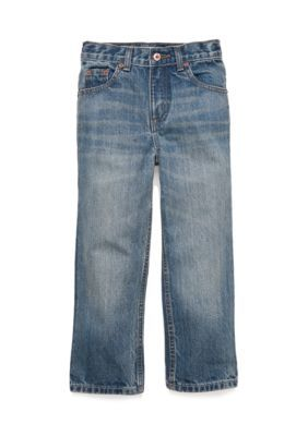 J. Khaki Boys' Straight Fit Slim Jeans Boys 4-7 - Blue - 4 Slim