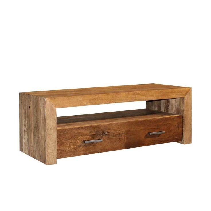 TV Board aus Teak Massivholz 130 cm   Wohnzimmer > TV-HiFi-Möbel > TV-Lowboards   Holz   Massivholz   Wooding Nature