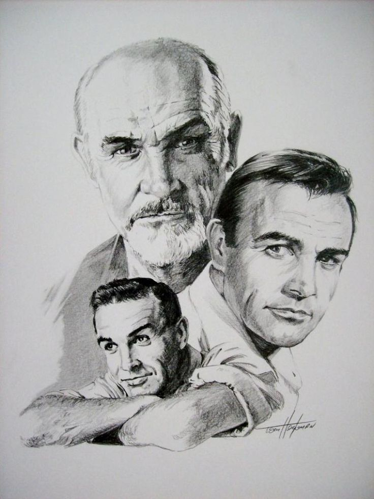 sean connery by tom  portraits