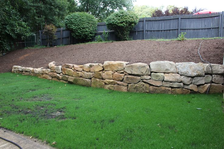 Dry Stacked Boulder Retaining Wall