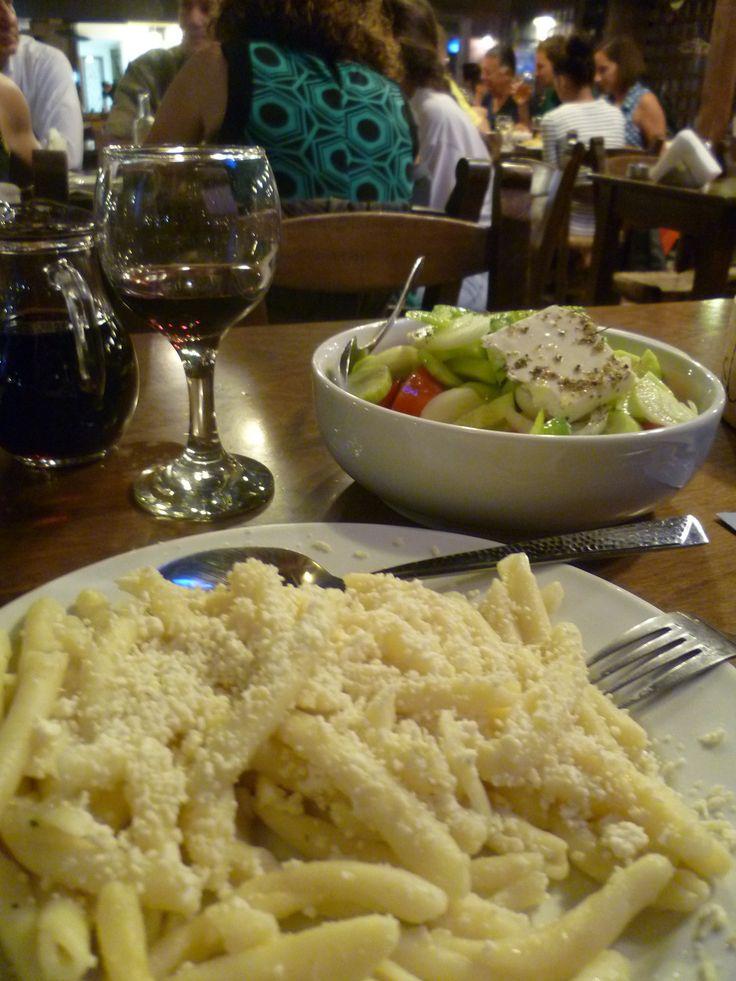 Handmade pasta or makarounes in Sitia, Crete